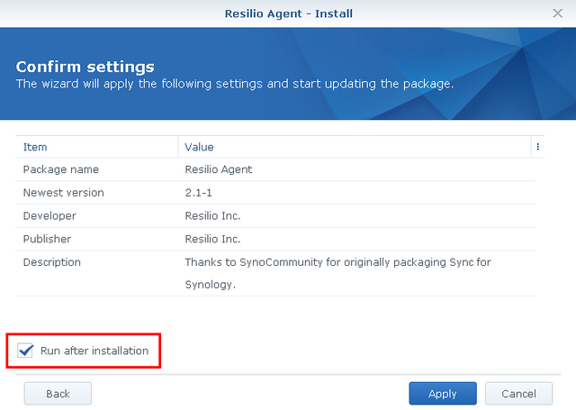Synology – Resilio Connect
